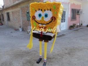 Cómo Hacer Una Piñata De Bob Esponja Manualidades En Papel