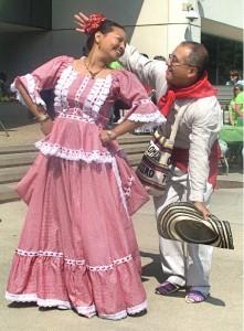 Vestuario tradicional de la Cumbia